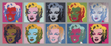10 Marilyns, 1967 Lminas por Andy Warhol