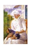 Young Girl at a Window Reproduction procédé giclée par Mary Cassatt