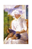Young Girl at a Window Giclee Print by Mary Cassatt