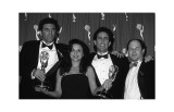 The Cast of Seinfeld with Awards Posters
