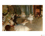 Rehearsal on Stage Giclee Print by Edgar Degas