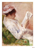 Woman Reading Giclee Print by Mary Cassatt