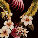 Tropical Bouquet II Prints by Cheryl Kessler-Romano