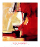 Movement in Red Prints by Eva Carter