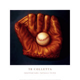 Baseball Mitt I Print by TR Colletta