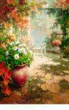 Pierres et fleurs Poster par Roberto Lombardi
