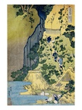 The Kannon Shrine at the Kiyo Falls at Sakanoshita on the Tokaido, from the Series A Journey to the Giclee Print by Katsushika Hokusai
