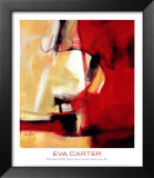 Movement in Red Print by Eva Carter