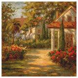 Chemin éclairé par le soleil Art par Paul Burkett
