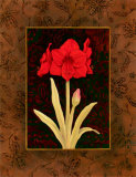 Damask Amaryllis Posters by Paul Brent