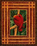 Crimson Parrot Poster by Paul Brent