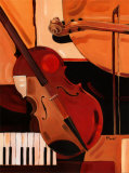 Abstract Violin Art by Paul Brent