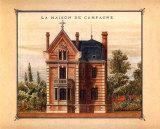 Maison de Campagne, Marne Poster par Laurence David