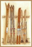 Old Skis II Schilderij van Laurence David