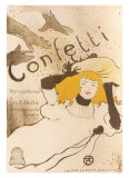 Confetti Art by Henri de Toulouse-Lautrec
