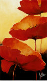 Three Red Poppies II Print by Jettie Rosenboom