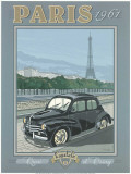 Paris 1961, 4Cv Art by Bruno Pozzo