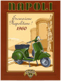 Napoli Scooter Prints by Bruno Pozzo