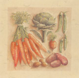 Vegetables IV, Carrots Prints by Laurence David