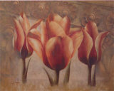 Triple Tulip III Prints by Rumi 