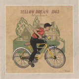 Le Velo Jaune Prints by Philippe David