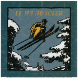 Le Ski au Soleil I Posters by Philippe David