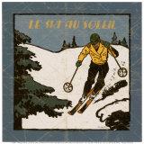 Le Ski au Soleil II Prints by Philippe David