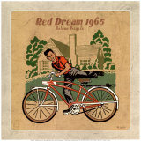 Le Velo Rouge Poster by Philippe David