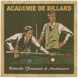 Academie de Billard I Posters by Philippe David