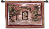 Flowered Doorway Wall Tapestry by Cyrus Afsary
