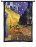 The Café Terrace on the Place du Forum, Arles, at Night, c.1888 Wall Tapestry by Vincent van Gogh