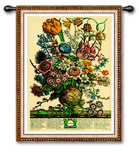 March Botanical Wall Tapestry by Robert Furber
