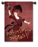 Absinthe Ducros Wall Tapestry by Leonetto Cappiello