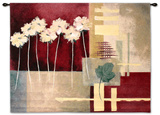 Contemporary Crimson I Wall Tapestry by Carol Robinson
