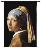 Girl with Pearl Wall Tapestry by Jan Vermeer