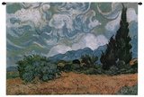 Wheatfield with Cypresses, c.1889 Wall Tapestry by Vincent van Gogh
