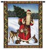 Father Xmas Red Wall Tapestry