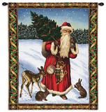 Papá Noel en rojo Tapiz