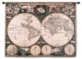 Mapa del Viejo Mundo Tapiz