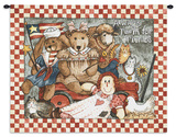 Always Room for Friends Wall Tapestry by Diane Knott