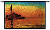 Evening Venice Wall Tapestry by Claude Monet