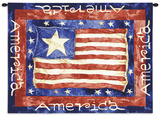 Old Glory Wall Tapestry by Diane Knott