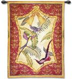 Aviary I Wall Tapestry by Abigail Kamelhair