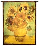 花瓶にさした12本のひまわりの静物, 1889 タペストリー : フィンセント・ファン・ゴッホ