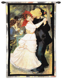 Dance Bougival Wall Tapestry by Pierre-Auguste Renoir