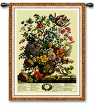 May Botanical Wall Tapestry by Robert Furber