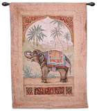 Old World Elephant II Wall Tapestry by Debra Swartzendruber