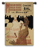 Moulin Rouge Wall Tapestry by Henri de Toulouse-Lautrec