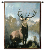 Monarch Of The Glen Wall Tapestry by Edwin Henry Landseer