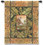 Macaca Mulata I Wall Tapestry by Dwight Wood
